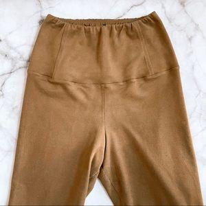 Aritzia Wilfred camel faux suede Daria leggings XS